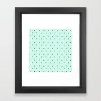 Mint Magic Arrows Framed Art Print