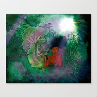 Bayou Mermaid Canvas Print