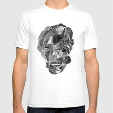 Death gives no reason White Mens Fitted Tee SMALL
