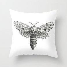 Moth Study Throw Pillow
