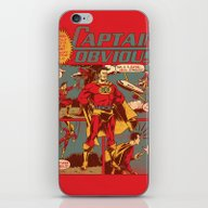 iPhone & iPod Skin featuring Captain Obvious! by Joshua Kemble