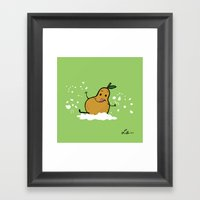 Goat Cheese & Pears Framed Art Print