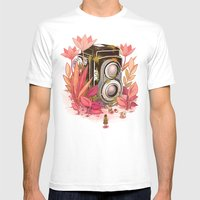 Vintage Cameras Mens Fitted Tee White SMALL