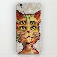 Four Eyed Cat iPhone & iPod Skin