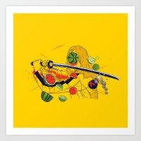 Kill Fruit Art Print