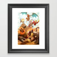 Fire Blast Framed Art Print
