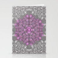 Mandala Pattern with Glitters II Stationery Cards