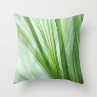 Dancing Grasses Throw Pillow