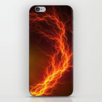Fire And Lightning iPhone & iPod Skin
