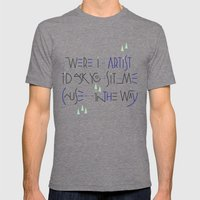 Haikuglyphics - Landscape Mens Fitted Tee Tri-Grey SMALL