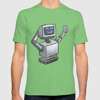 Happy Bot Mens Fitted Tee Grass SMALL