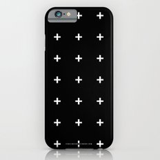 White Plus on Black /// www.pencilmeinstationery.com iPhone 6 Slim Case
