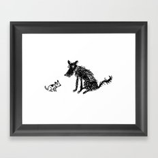 Little Dog, Big Dog Framed Art Print