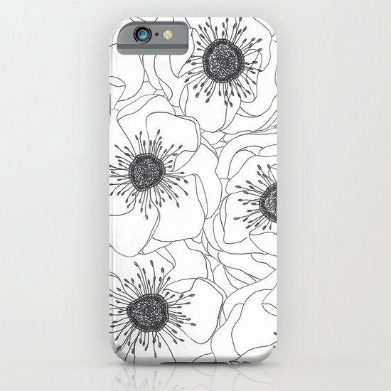 White Anemones iPhone & iPod Case