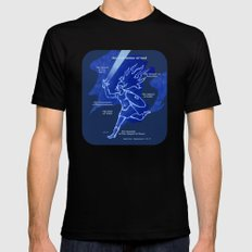 Warrior Girl 5 Mens Fitted Tee Black SMALL