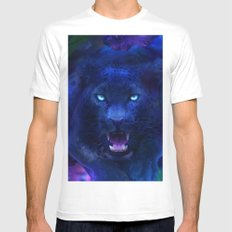 Panther SMALL White Mens Fitted Tee