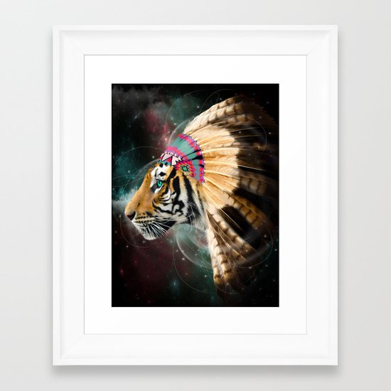 Fight For What You Love (Chief of Dreams: Tiger) Tribe Series Framed Art Print