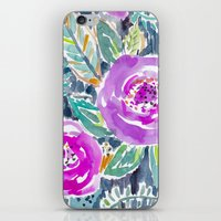 Gardens of Bolinas Purple Floral iPhone & iPod Skin