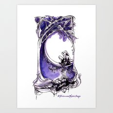 A Midsummer Night's Dream - Puck and Titania - Shakespeare Illustration Art Art Print