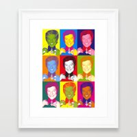 Liberace 9 Times, Che Guevara-style Framed Art Print