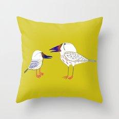 Birds, bird print, bird illustration, kids art, childrens art,  Throw Pillow