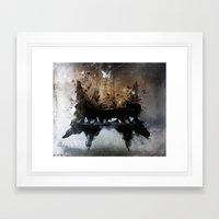 Piandemonium - Piano Rorschach Framed Art Print
