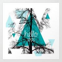 Hello Christmas - Winter… Art Print