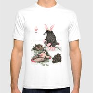 Crow Serie :: Easter Cro… Mens Fitted Tee White SMALL