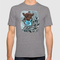 Mr. Boxer is in love with Cats Mens Fitted Tee Tri-Grey SMALL