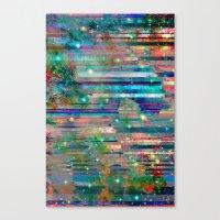 Space Glitch Canvas Print