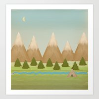 twilight Art Prints featuring Twilight by Tammy Kushnir