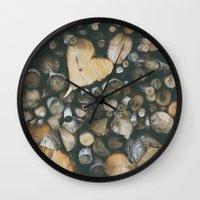Heart Shaped Wood Wall Clock
