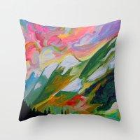 Coquihalla Sunrise Throw Pillow