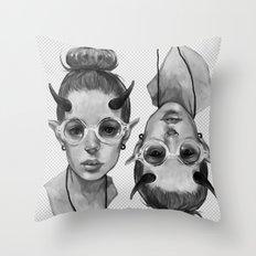 Monster Girl #3a Throw Pillow