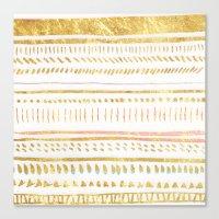 GOLD TRIBE Canvas Print