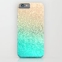 iPhone Cases featuring GOLD AQUA by Monika Strigel