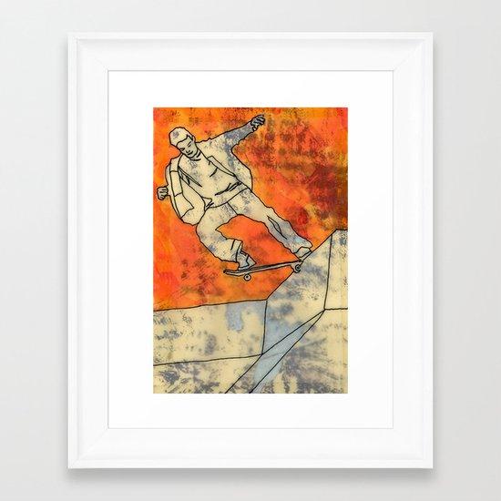 BackSide Tail. Framed Art Print