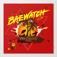 Baewatch - Wet Electric Canvas Print