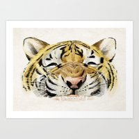 Happy Tiger Art Print