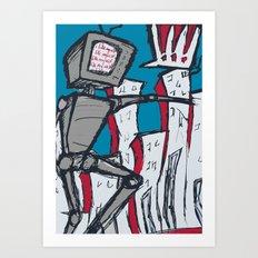 Manhattan vs. Depressed Giant Robot Art Print
