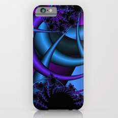 purple and blue fractal iPhone 6 Slim Case