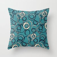 Honolulu hoopla blue Throw Pillow