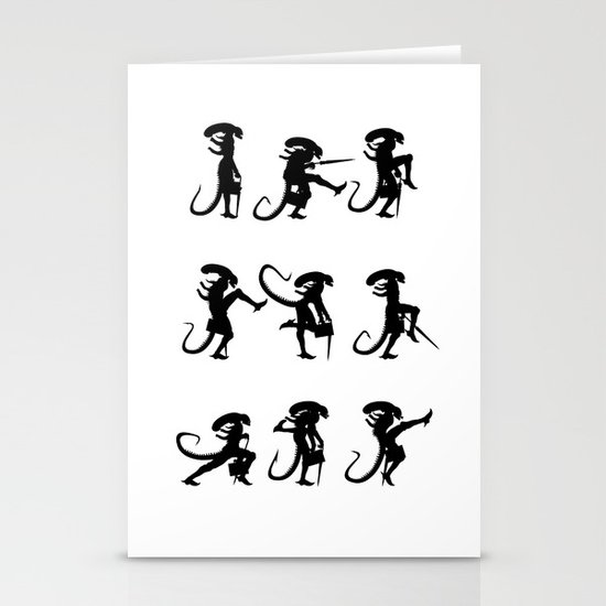 Ministry of Alien Silly Walks Stationery Card