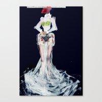 Lady frog Canvas Print