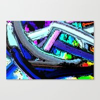 Tangles Abstract wall art Canvas Print