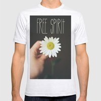 Free Spirit Mens Fitted Tee Ash Grey SMALL
