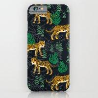 iPhone Cases featuring Safari Tiger by Andrea Lauren by Andrea Lauren Design