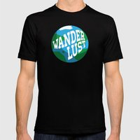 Wanderlust Mens Fitted Tee Black SMALL