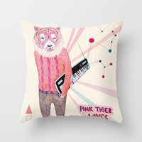 Pink Tiger Throw Pillow