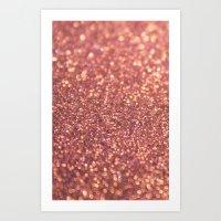 Rose Glitter Art Print